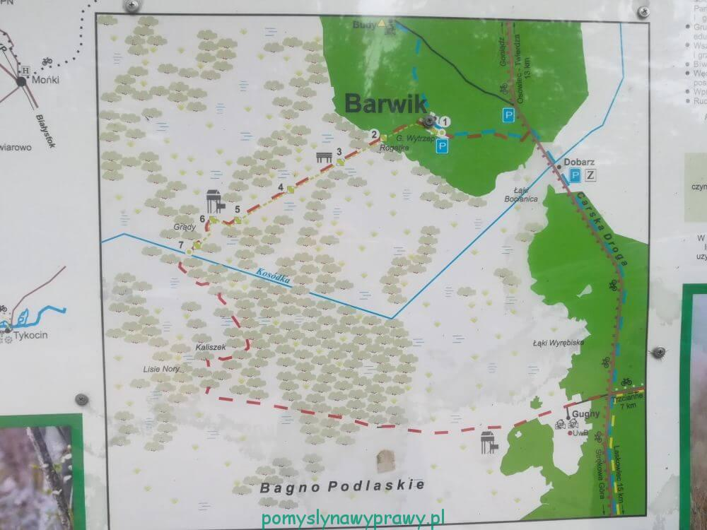 Biebrza szlak przez bagno Gugny - Barwik
