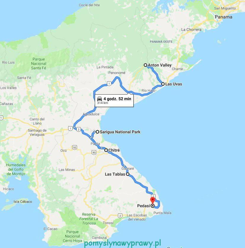 Panama trasa