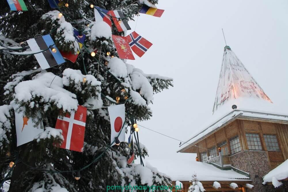 Laponia wioska sw Mikołaja Rovaniemi Finlandia