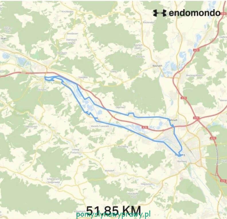 Rower nad Menem odcinek Eltmann - Bamberg