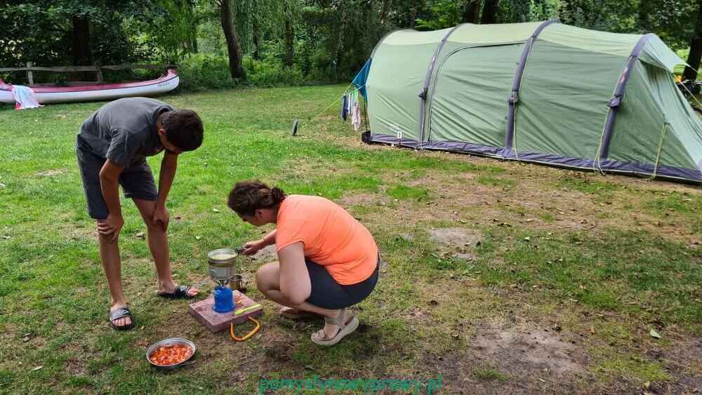 Spreewald Zelten am Ostgraben