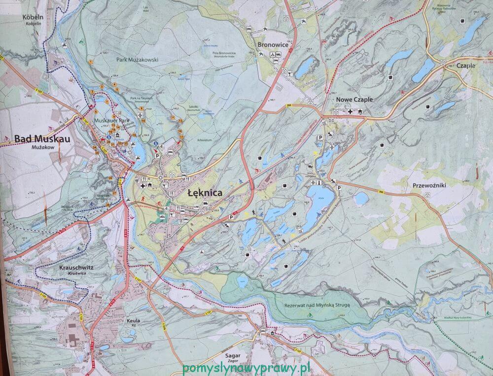 mapa okolicy łęknica