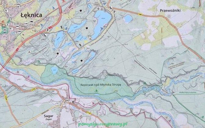 mapa łęknica