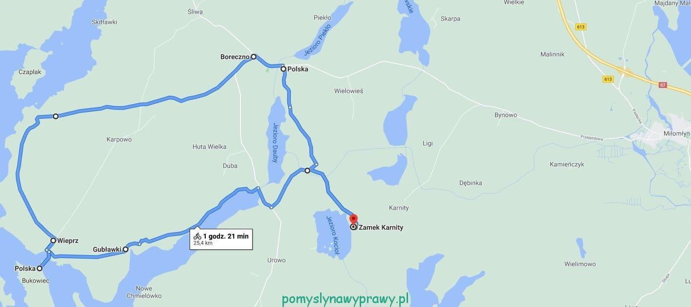 trasa rowerowa Karnity - Bukowiec - Boreczno