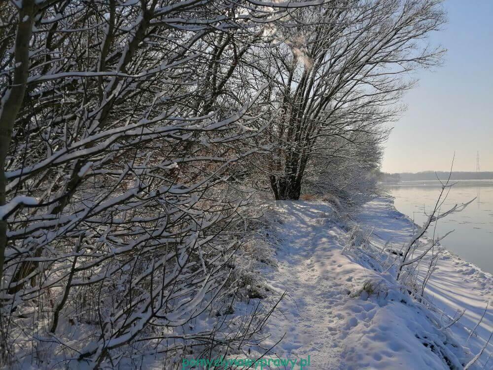 Ławice Kiełpińskie zimą