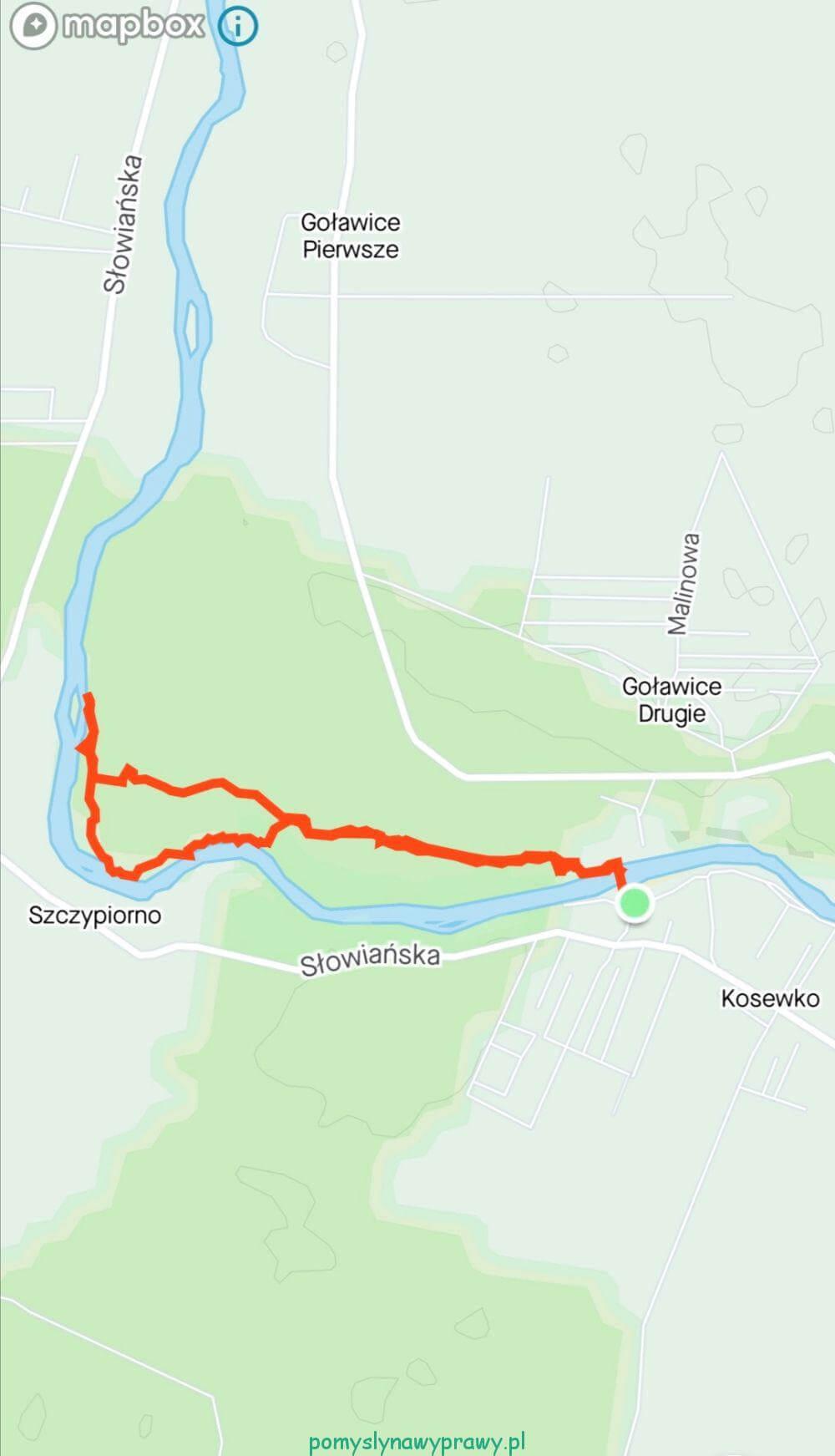 Rezerwat Przyrody Dolina Wkry mapa spaceru