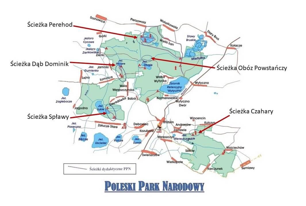 poleski park narodowy mapa