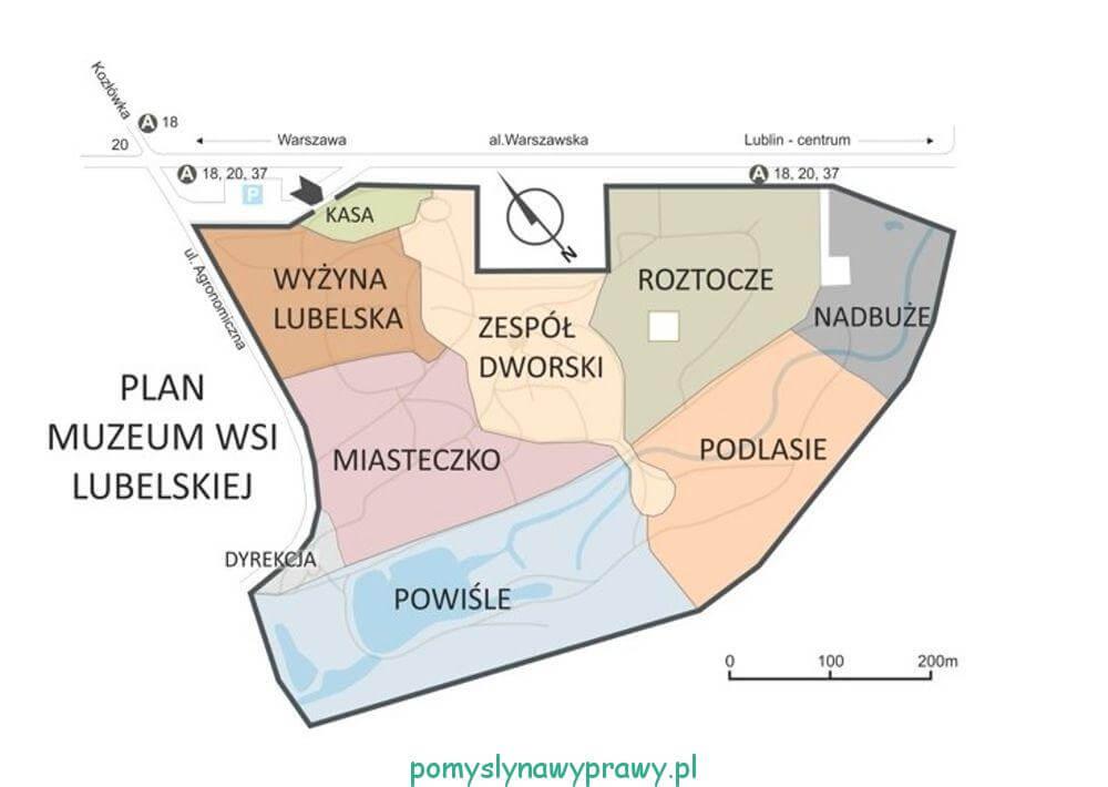Muzeum Wsi Lubelskiej mapa
