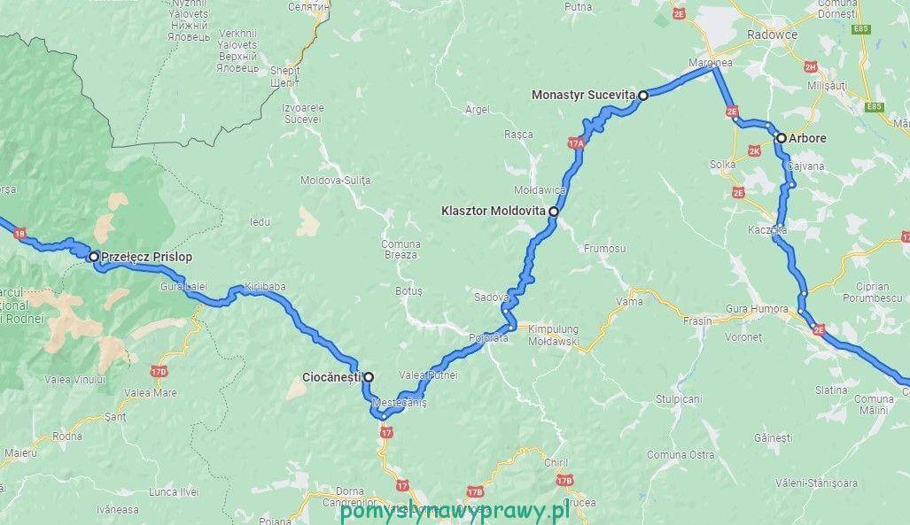 Bukowina trasa