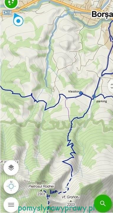 szlak na Pietrosul Rodnei (Windy Maps)
